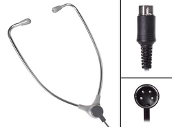 ECS AL-60-N Aluminum Stethoscope Style Headset for use with Philips / Norelco