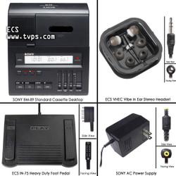 SONY BM-89T Standard Cassette Transcriber - Pre-Owned