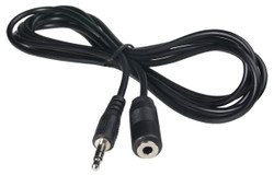 ECS 3.5 mm Female Stereo to 3.5 mm Male Stereo 6 ft Extender Cable - New