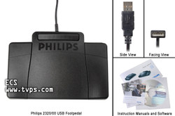 Philips LFH2320 USB Transcription Foot Pedal