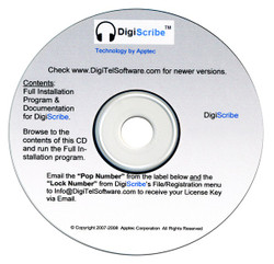 Apptec DigiScribe Digital Audio Transcription Software - New