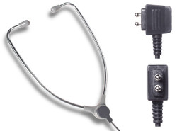 Dictaphone 0133623 2 Prong Aluminum Stethoscope Style Transcription Headset - New
