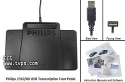 Philips 2310 USB Transcription Foot Pedal - New LFH-2310