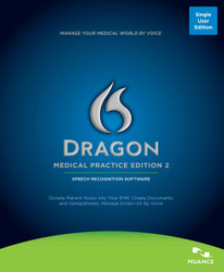 Nuance® Dragon® Medical Practice Edition 2 Speech Recognition Software - Download Only