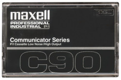 Maxell 90 Minute Leaderless Standard Dictation Cassette Tapes 10 pack