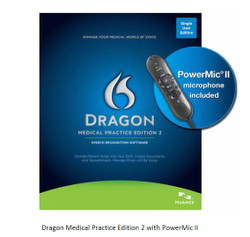 Nuance® Dragon® Naturally Speaking Medical Upgrade to Medical Edition 2 with PowerMic™ II