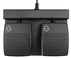 ECS-DRAGON-FP-2B-W Two Button Hands Free Waterproof Foot Pedal for Dragon®