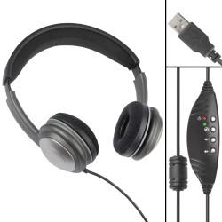 ECS OHUSB WordSlinger Deluxe Overhead USB Transcription Headset - Pre-Owned