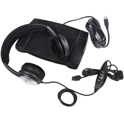 ECS OHUSB WordSlinger Headset with Infinity IN-USB-2 USB Foot Pedal