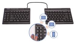 Kinesis Freestyle2 Blue - Multichannel Bluetooth for Mac Keyboard