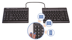 Kinesis Freestyle2 Blue - MultichannelTM Bluetooth for Mac keyboard