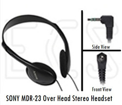 Sony MDR-23 Overhead 3.5 mm Stereo Headset