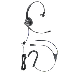 Professional WordCommander Voice to Text 3.5mm Stereo Voice Recognition Headset with Noise Cancelling Boom Microphone