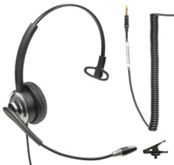 Professional WordCommander Voice to Text 3.5mm 4 pole Voice Recognition Headset with Noise Cancelling Boom Microphone