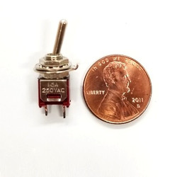 Radio Shack SPST Micro Mini Toggle Switch (5 pieces)
