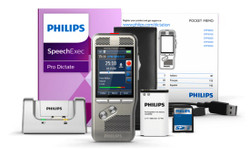 Philips Pocket Memo 8000 Digital Dictation Portable Recorder  with SpeechExec Pro Dictate 10 and Speech recognition