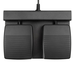 ECS-DRAGON-FP-T-2B Two Button Hands Free Foot Pedal for Dragon®
