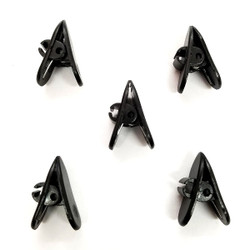 Clips for Earphone Wire, Headphone Mount Cable Clothing Clip, 5 Pcs Black Clips for Most Headset, Pack of 5 (Black)