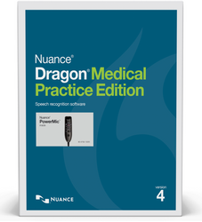 Nuance® Dragon® Medical Practice Edition 4 with PowerMic™ III - 9ft cable