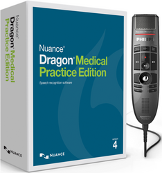Nuance® Dragon® Medical Practice Edition 4 with Philips LFH3500 Premium Trackball Dictation Microphone