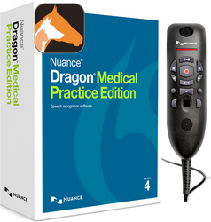Nuance® Dragon® Medical Practice Edition 4 with Dragon Veterinary and PowerMic™ III - 9ft cable