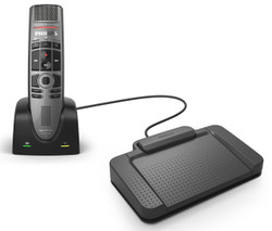 Philips SMP4000 SpeechMike Premium Air Wireless Dictation Microphone with ACC2330 for Handsfree Dictation