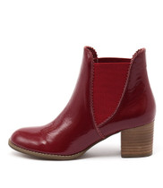 SADORE Ankle Boots in Red Patent Leather