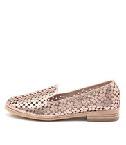 ANSON Loafers in Rose Gold Metallic Leather