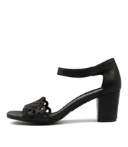 CANDYCA Heeled Sandals in Black Leather