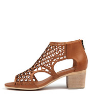 BOSTIK Heeled Sandals in Dark Tan Leather