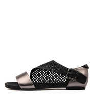 JADA Sandals in Pewter/ Black Leather