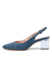 HINNIS High Heels in Denim Suede