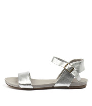 JINNIT Sandals in Silver Leather