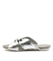 JANJANG Sandals in Silver Leather