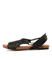 JADELIKE Sandals in Black Leather