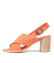 DEANIA Heeled Sandals in Cantaloupe Leather