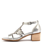 DADAMI Heeled Sandals in Silver Leather