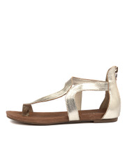 JACKSON Sandals in Pale Gold Leather