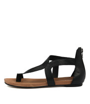 JACKSON Sandals in Black Leather