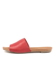 JALLAS Sandals in Red Leather