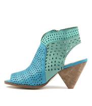 OFIVE Heeled Sandals in Aqua/ Mint/ Sea Leather