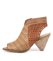 OFIVE Heeled Sandals in Whisky/ Cognac/ Tan Leather