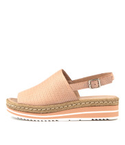 ADIDAH Flatform Sandals in Nude Leather