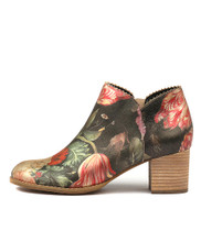 SHARON Ankle Boots in Vintage Floral Leather