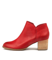 SHARON Ankle Boots in Red Leather