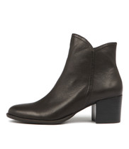 MOCKAS Ankle Boots in Black Leather