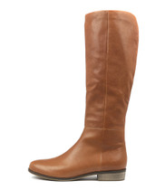 STRATH Knee High Boots in Dark Tan Leather