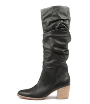 BEAST Knee High Boots in Black Leather