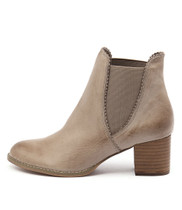 SADORE Ankle Boots in Taupe Leather