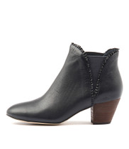 HIALEAH Ankle Boots in Navy Leather